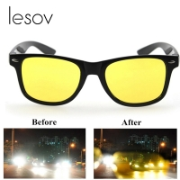 Lesov Men Night Vision Glasses Day Sunglasses Women Anti-glare HD Vision Polarized Yellow Lens Unisex Cycling Driving Glasses