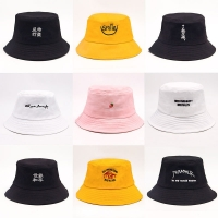 Solid color Bucket Hats shading flat caps outdoor fishing hunting fisherman sunscreen folding cap SL-07