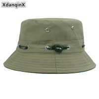 XdanqinX New Multiple Color Unisex Bucket Cap Cotton Polyester Panama Bucket Hats Summer Hip Hop Beach Fishing Hat For Men Women