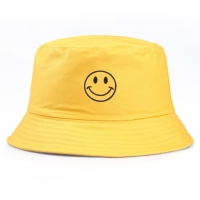 1PC Casual Embroidery Yellow Smiley Face Fisherman Hat For Women Men Fashion Simple Outdoor Friends Visor Sun Basin Hats H18