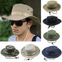 New Bucket Hats Outdoor Jungle Military Camouflage Bob Camo Bonnie Hat Fishing Camping Barbecue Cotton Mountain Climbing Hat