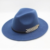 Wool Wide Brim Felt Fedora Trilby Hat For Women Men Winter Autumn Wide Brim Jazz Church Godfather Sombrero Caps