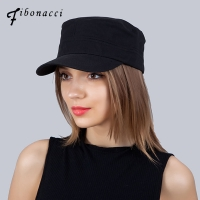 Army Military Cap Men Women Classic Solid Color Cotton Unisex Military Trucker Hats For Men Flat Top Caps