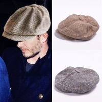 autumn winer herringbone tweed newsboy cap men Octagonal Cap flatcap,fashion chic  travel flat cap hat,gorras planas