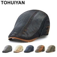 TOHUIYAN Classic Newsboy Cap Men Hat Vintage Cotton Gatsby Caps Casual Baker Boy Hat Casual Boina Flat Cap For Man Chapeau Homme