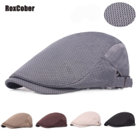 RoxCober Summer men women Mesh Breathable Berets Newsboy Caps Gatsby Hats Ivy Golf Flat Cabbie caps hat chapeau homme topi pria