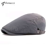 Fibonacci 2018 New Summer Breathable Mesh Solid Newsboy Cap Vintage Classic Men Women Ivy Flatcap Berets Hats