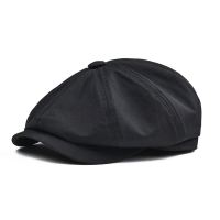 BOTVELA 100% Twill Cotton Newsboy Cap Men Women Classic Retro Hat Summer Autumn Lightweight Driver Cap 003