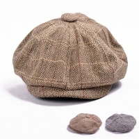 Autumn Winter Beret Caps herringbone tweed newsboy cap men Octagonal Cap flatcap, travel flat cap hat boina masculina