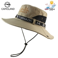 UPF 50+ Sun Hat Bucket Autumn Men Women Fishing Boonie Hat Sun UV Protection Long Large Wide Brim Mesh Hiking Outdoor Beach Cap