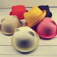 Fashion popular Summer Hat Cap Children Breathable Straw Hat solid Girls Hats Caps Unisex summer tops