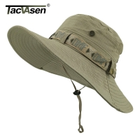 TACVASEN Army Men Tactical Sniper Hats Fish Sun Boonie Hats Summer Sun Protection Safari Cap Men's Military Hike Hunt Hats Caps