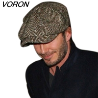 VORON Fashion Octagonal Cap Newsboy Beret Hat Autumn And Winter Hats For Men's International Superstar Jason Statham Male Models