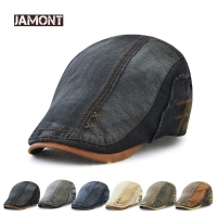 JAMONT Brand Cotton Beret Hat for Men Women 2018 NEW Ivy Flat Cap Summer Boina Newsboy Style Cabbie Gatsby Beret Hat Adjustable