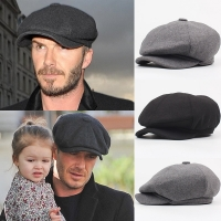 Wool Octagonal Cap Newsboy Beret Hat For Men's Male Dad Ivy Caps Golf Driving Flat Cabbie Flat Hats Autumn Winter Peaky Blinders