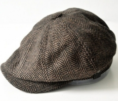 HERRINGBONE TWEED GATSBY Newsboy Cap Men Wool Ivy Hat Golf Driving Flat Cabbie flat hat for men winter Cap