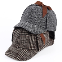 VORON Brand Sherlock Holmes Detective Hat Unisex Cosplay Accessories berets Men Women Two Brims beret Deerstalker hat