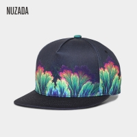 NUZADA Chinese Style Women Men Hip Hop Cap Printing Color Spring Summer Autumn