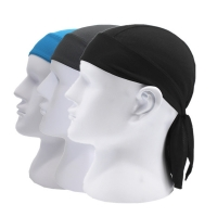 Fashion Quick Dry Breathable Stretchy Wigs Turban Hip Hop Caps Pirate Hat Workout Cycling Sports Silky Bandana Headband Headwear
