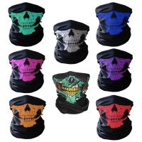 Men Scarf Halloween Ride bandana Women Headscarf Ski Skull Half Face Mask Ghost Scarf Neck Hiking Scarves Cuello Balaclava Masks