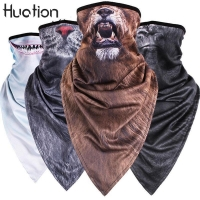Huation Creative Animal Tiger Neck Half Face Mask Tube Bicycle Balaclava Scarf Winter Snowboard Headband Headscarf Bandana