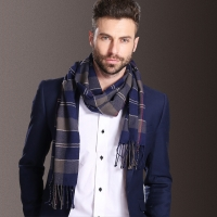 New Europe Fashion Shawl Scarves Men Winter Warm Tartan Scarf Business Sjaal Plaid Cotton Wraps Bufanda Foulard szaliki i chusty