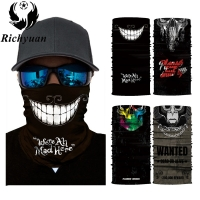 3D Seamless Balaclava Magic Scarf Neck Face Mask Ghost Skull Skeleton Head Bandana Shield Headband Headwear Bandanas Men Bicycle