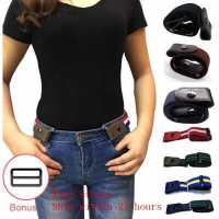 Buckle-Free Elastic Belt Buckle Free No Buckle Stretch Belt Women's Plus Belts for Jeans Pants Dresses