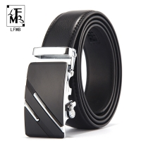 [LFMB]Famous Brand Belt Men Top Quality Genuine Luxury Leather Belts for Men,Strap Male Metal Automatic Buckle