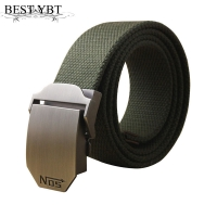 Best YBT Hot male tactical belt Top quality 4 mm thick 3.8 cm wide casual canvas belt Outdoor For men  Automatic buckle Belt