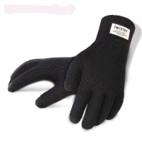 Touch Screen Knitted Gloves Winter Autumn Men High Quality Male Thicken Warm Wool Cashmere Solid Gloves Mitten Business Gloves