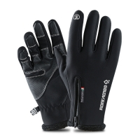 5 Size Cold-proof Unisex Waterproof Winter Gloves Cycling Fluff Warm Gloves For Touchscreen Cold Weather Windproof Anti Slip