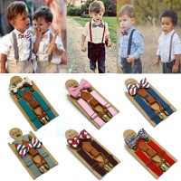 MUQGEW High Elastic elastic Butterfly knot Kids Baby Boys toddler Wedding Matching Braces Suspenders and Luxury Bow Tie Set
