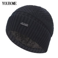 YOUBOME Skullies Beanies Winter Hats For Men Beany Knitted Hat Women Male Gorras Warm Soft Neck Balaclava Bonnet Beanie Hat Cap