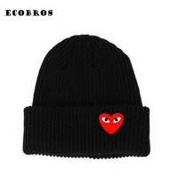 2019 Winter woman warm hats Heart Eyes Cartoon Label Beanies Knit Hat Toucas Bonnet Hats man hat Crochet Cap Skullies Gorros