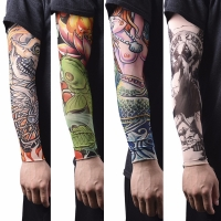 1Pc Nylon Tatoo Arm Stockings Arm Warmer Cover Elastic Fake Temporary Tattoo Sleeves For Men Women New Arrival