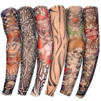 1 pc 2019 Men Tattoo Arm Unisex UV Running Cycling Sports Elasticity Compression Arm Warmer Warmers Basketball Arm Sleeves