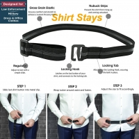 2020 Shirt Holder Men Women Adjustable Shirt-Stay Best Shirt Stays for men Black Tuck It Belt Shirt  Designed Hold up C