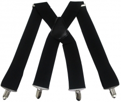 Suspenders Men 2 Inch 50mm Wide Adjustable Four Clip-on X- Back Elastic Black Red Grey Heavy Duty Braces Suspenders Mens