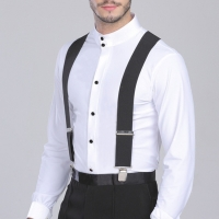 50mm Wide Elastic Adjustable Men Trouser Braces Suspenders X Shape with Strong Metal Clips JL