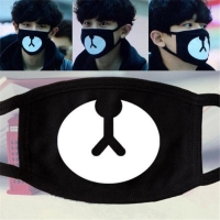 1PC Cotton Dustproof Mouth Face Mask Animal Cartoon Lucky Bear Muffle for women Men Anti-bacterial Dust Face Mouth Masks