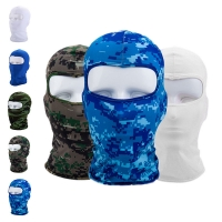 Cycling Outdoor lycra Neck Protecting Ultra-thin Full Face Mask Ski Balaclava /w