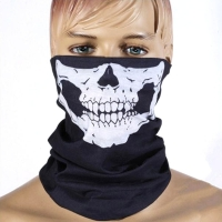 25x50cm HOT Breathable Face Mask Skull Half Face Mask Ghost Scarf Multi Use Neck Warmer Dust mask