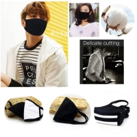 1 PC Unisex Kpop Idols Black Cotton Face Mouth Mask