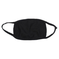 Unisex Winter Outdoor Anti-Dust Half Face Mouth Mask Double Layered Cotton Yarn Windproof Warmer Elastic Earloop