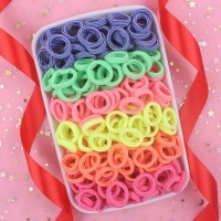 2019 NEW 100pcs/lot Spandex material Head rope hair accessories for girls kids elastic hair bands scrunchie (Striped colors mix)
