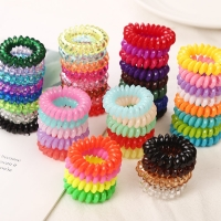 10PCS/lot 2cm Small Telephone Line Hair Ropes Girls Colorful Elastic Hair Bands Kid Ponytail Holder Tie Gum Hair Accessories