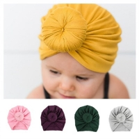 2018 New Donut Baby Hat Candy Color Newborn Elastic Cotton Baby Beanie Hat Caps Childs Multicolor Girl Boy Turban Hats