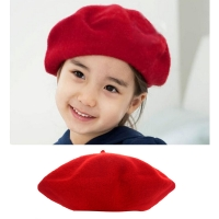 Kids Girls Winter Hats  Bailey Hat Dome Solid Cute Children Wool Berets Beanies   #815