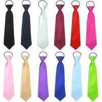 Solid Neck Tie Easy To Wear For Children Boys Girls Students Kid Rope Tie Stage Performance Photograph Graduation Ceremony Black